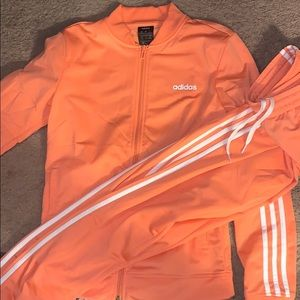 Coral Adidas Sweatsuit